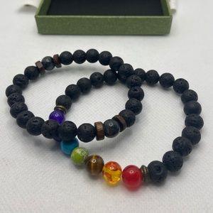 Lava Stone 8mm Essential Oil Diffuser Bracelets